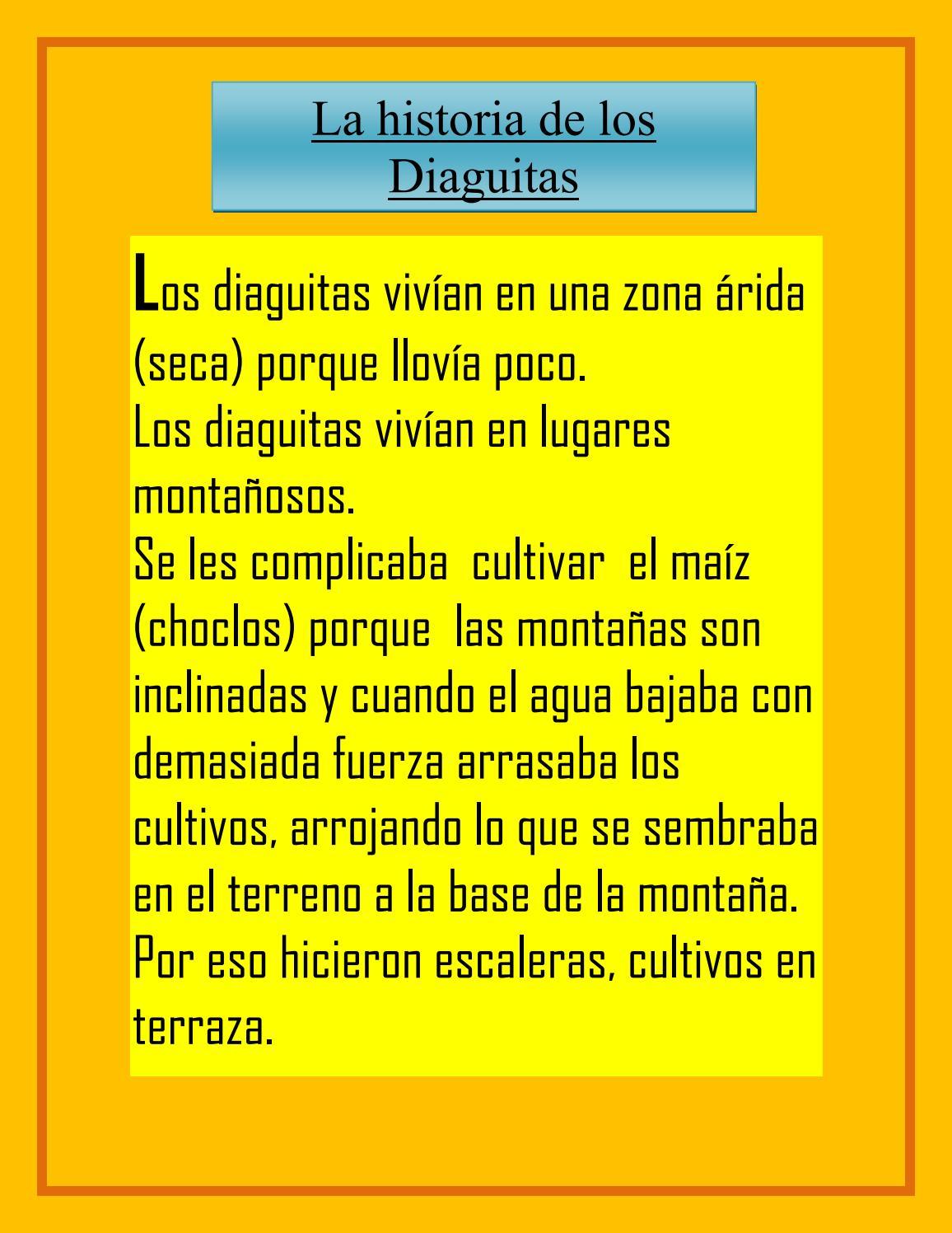 Cómo Vivían Los Diaguitas 1 By Romina Issuu