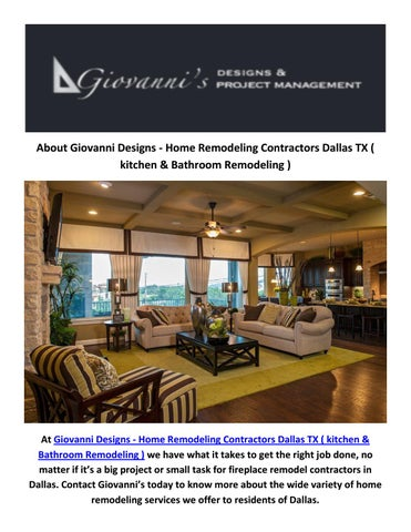 Hire Best Fireplace Remodel Contractors In Dallas Tx By Giovanni - Bathroom remodeling contractors dallas tx