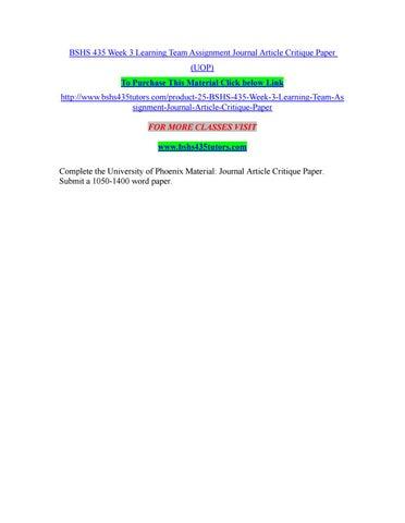 website critique paper