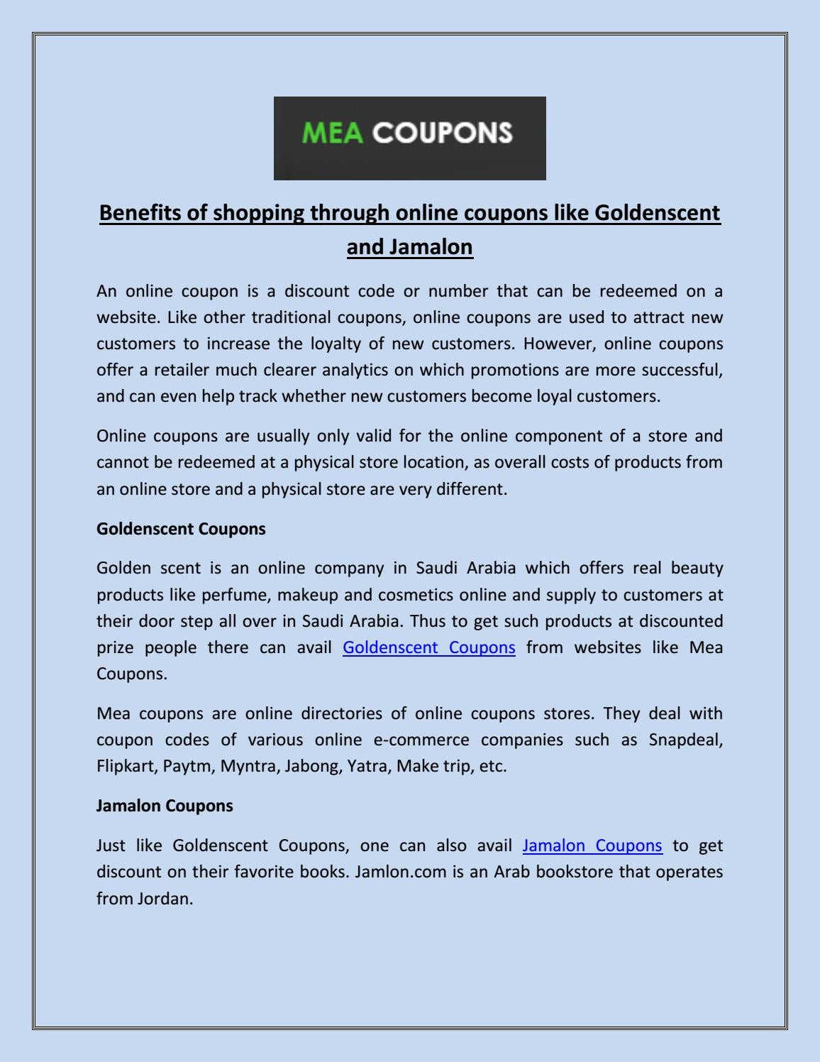 Goldenscent Coupons by Mea Coupons - issuu
