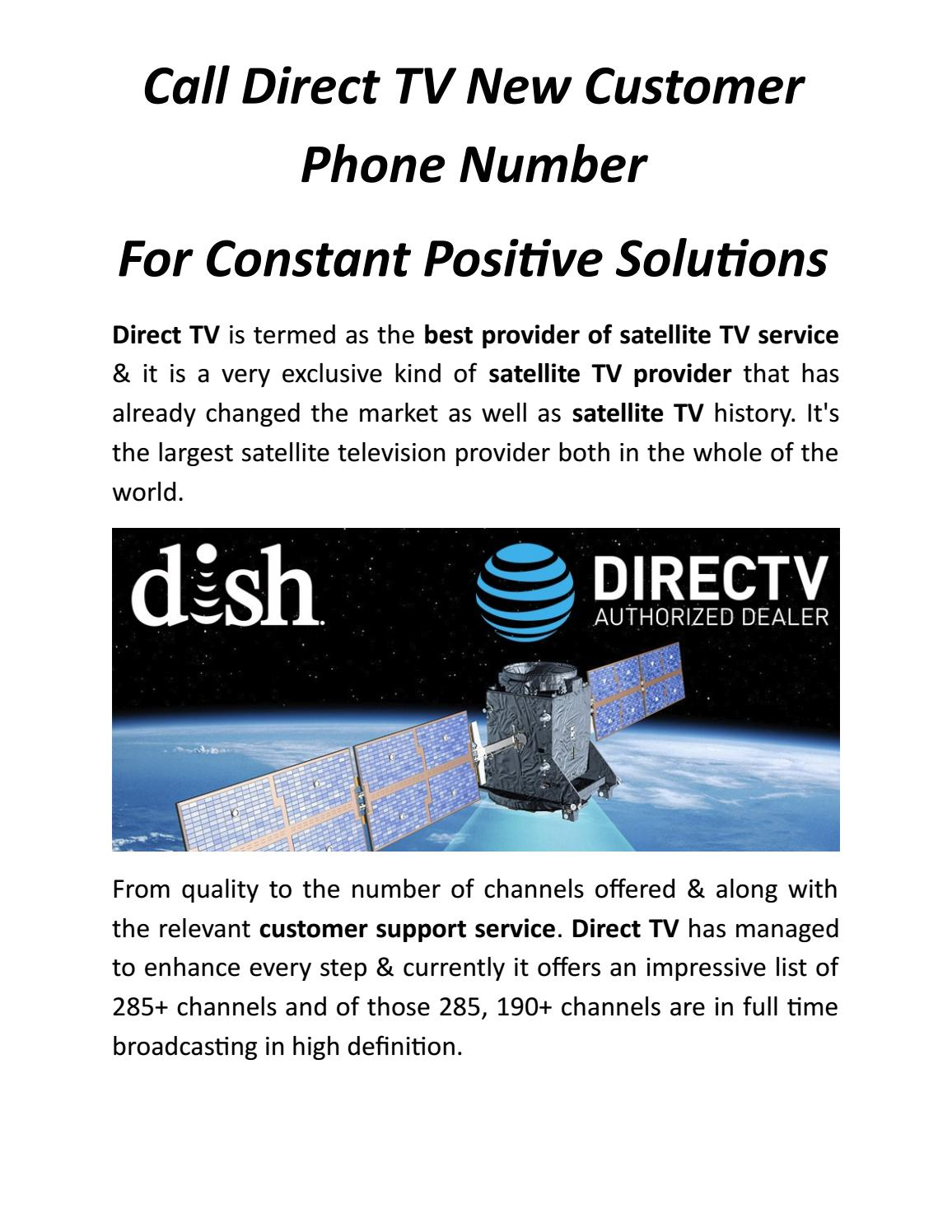 call direct tv new customer phone number for constant positive