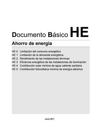 Legislacion dbhe ahorro de energia 2017 by Weber - issuu