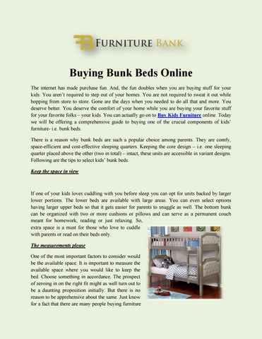 Buying Bunk Beds Online The Internet Has Made Purchase Fun. And, The Fun  Doubles When You Are Buying Stuff For Your Kids. You Arenu0027t Required To  Step Out Of ...