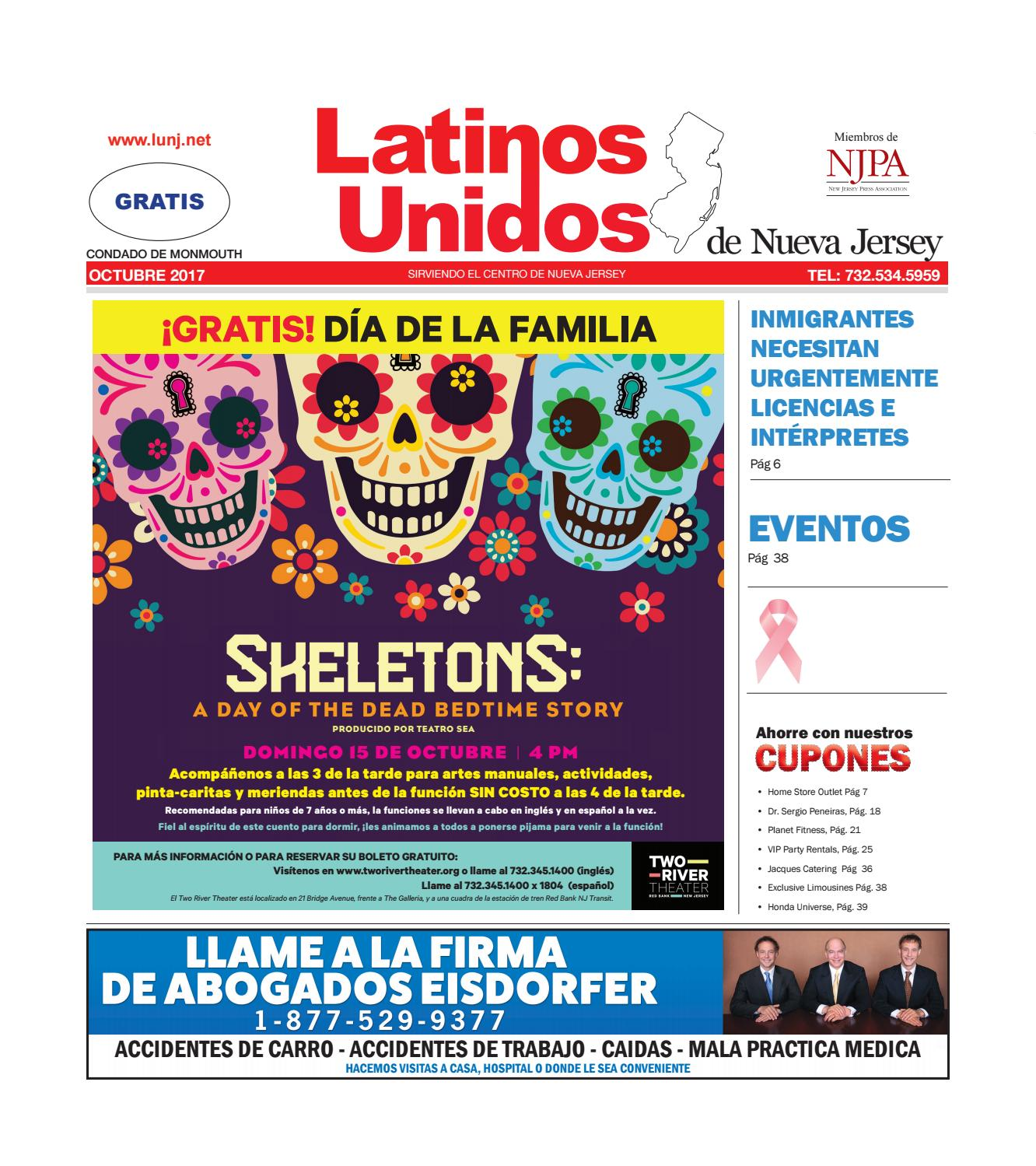 LUNJ Monmouth Oct2017 by Latinos Unidos de NJ - issuu