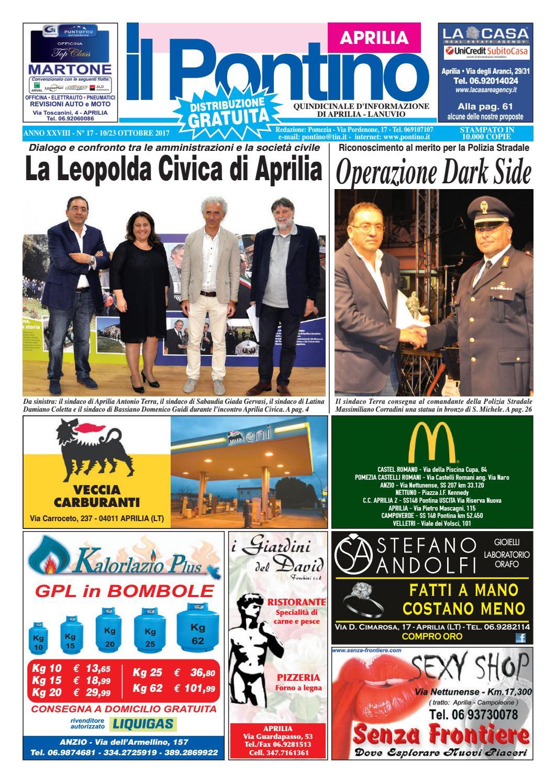 Il Pontino Aprilia - Anno XXVIII - N. 17 - 10 22 Ottobre 2017 by Il  Pontino Il Litorale - issuu 3818040c3928