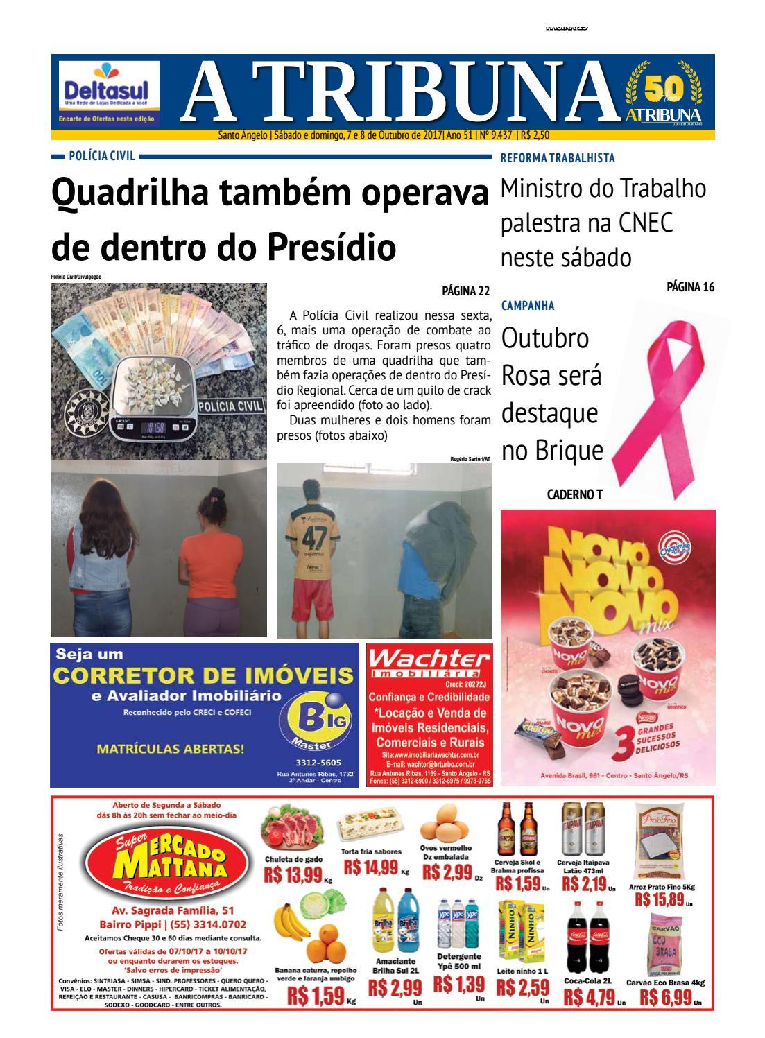 Jornal a tribuna 7 e 8 de outubro de 2017 by Jornal A Tribuna - Santo  Ângelo - issuu 9f2897b1fb
