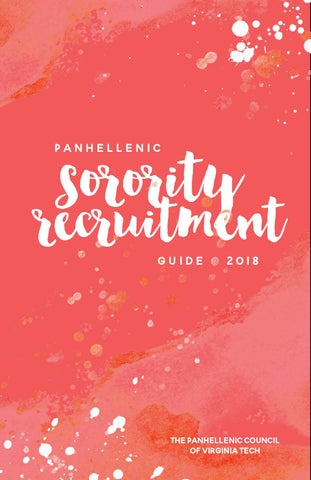 VT Panhellenic Sorority Recruitment Guide 2018 Digital
