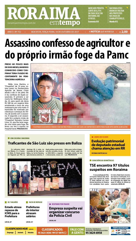 Jornal roraima em tempo – edição 752 by RoraimaEmTempo - issuu 09c1ce465f7b4