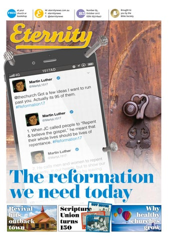 Eternity - October 2017 - Issue 85 by Bible Society Australia - issuu