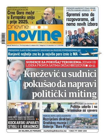 73df15021ed Dnevne novine 10. oktobar 2017. by Dnevne Novine - issuu