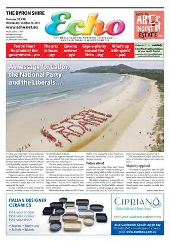 Byron Shire Echo – Issue 32.18 – 11 10 2017 by Echo Publications - issuu 9d9bd21bbc15