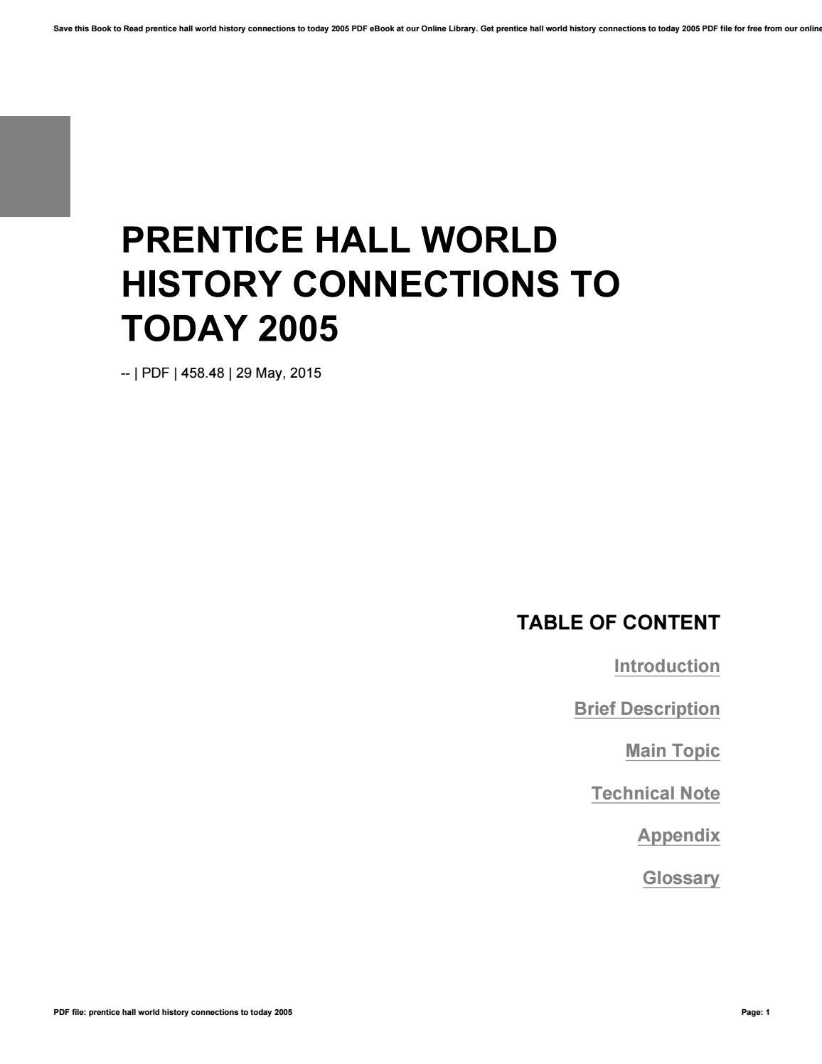 Prentice hall world history connections to today 2005 by