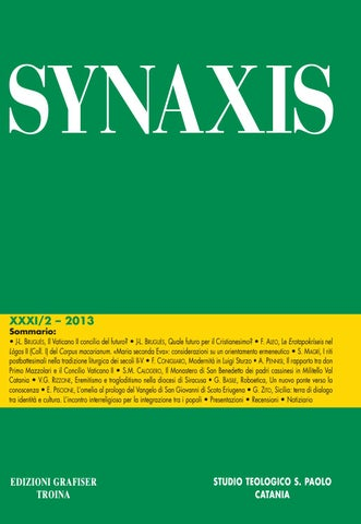 Synaxis xxxi 2 2013 by Studio Teologico S. Paolo - issuu 8322c2dca204