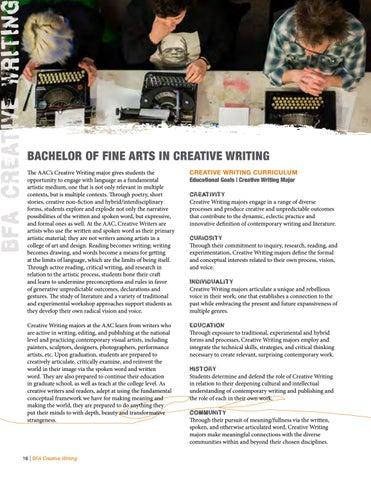 bfa in creative writing