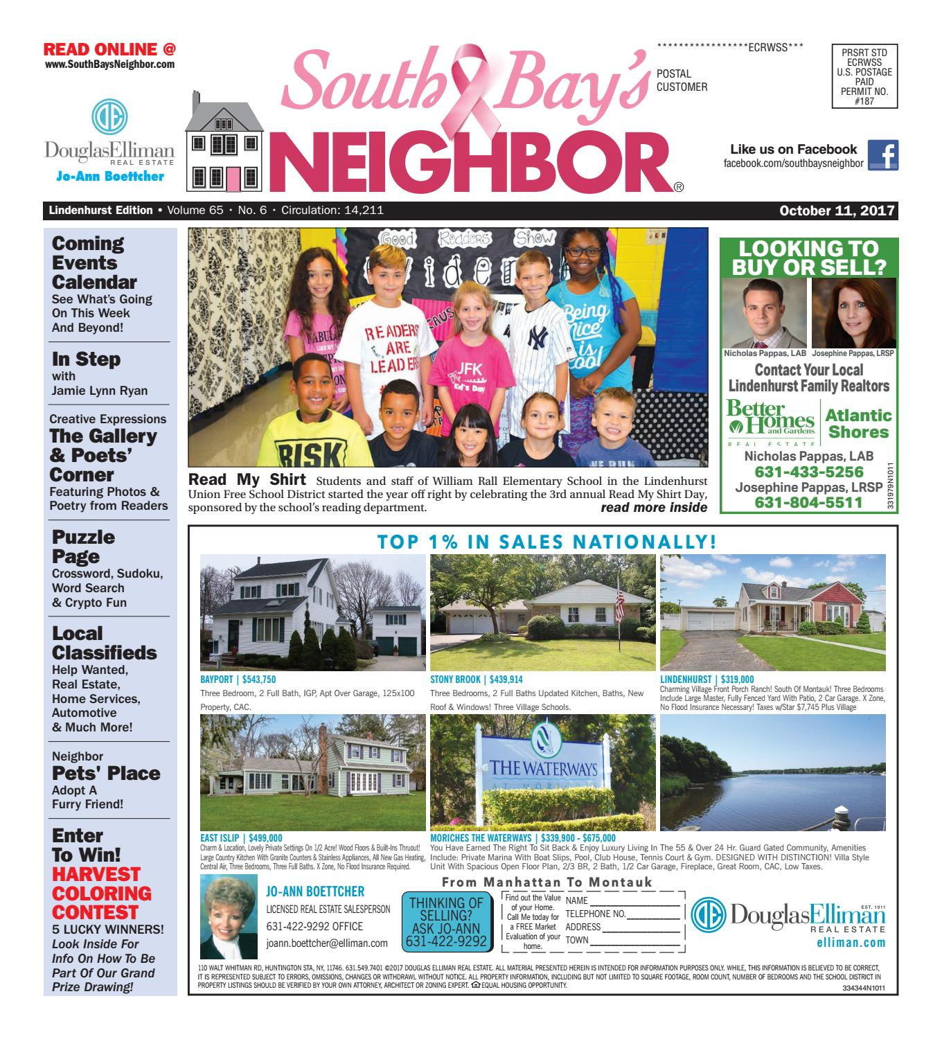 October 11th 2017 Lindenhurst By South Bay S Neighbor Newspapers  # Wertheim Muebles Jose Hernandez