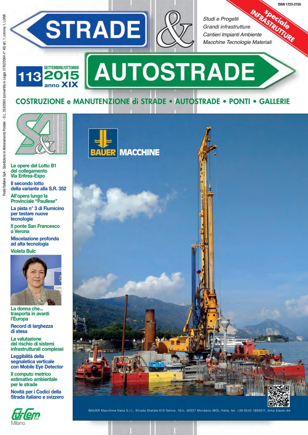 S&A 113 Settembre-Ottobre 2015 by Strade&Autostrade - EDI