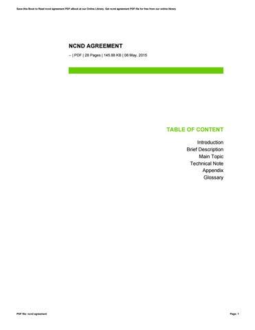 Ncnd Agreement By Mila25rahmasari Issuu