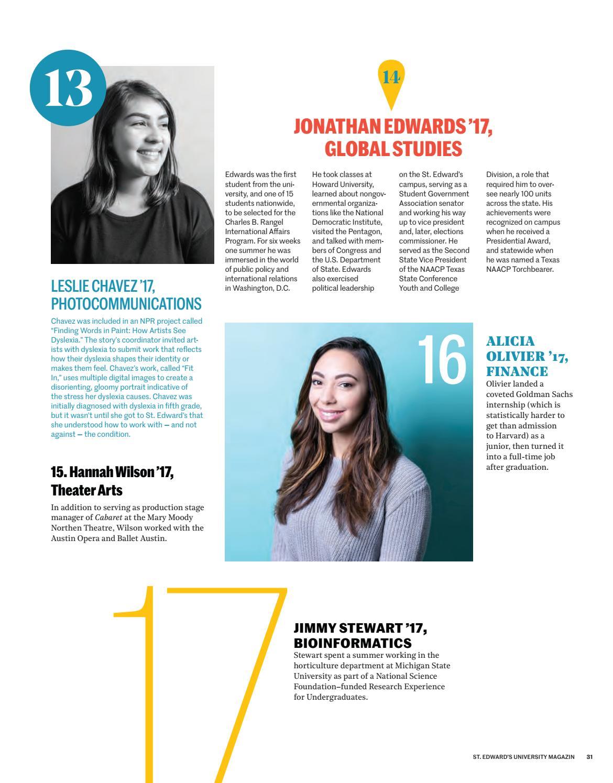 St  Ed's (St  Edward's University Magazine) Fall 2017 by St