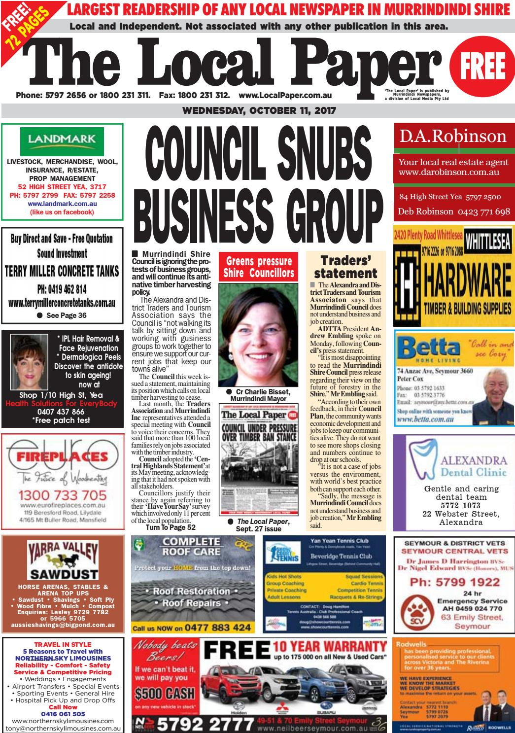 The Local Paper - October 11, ...