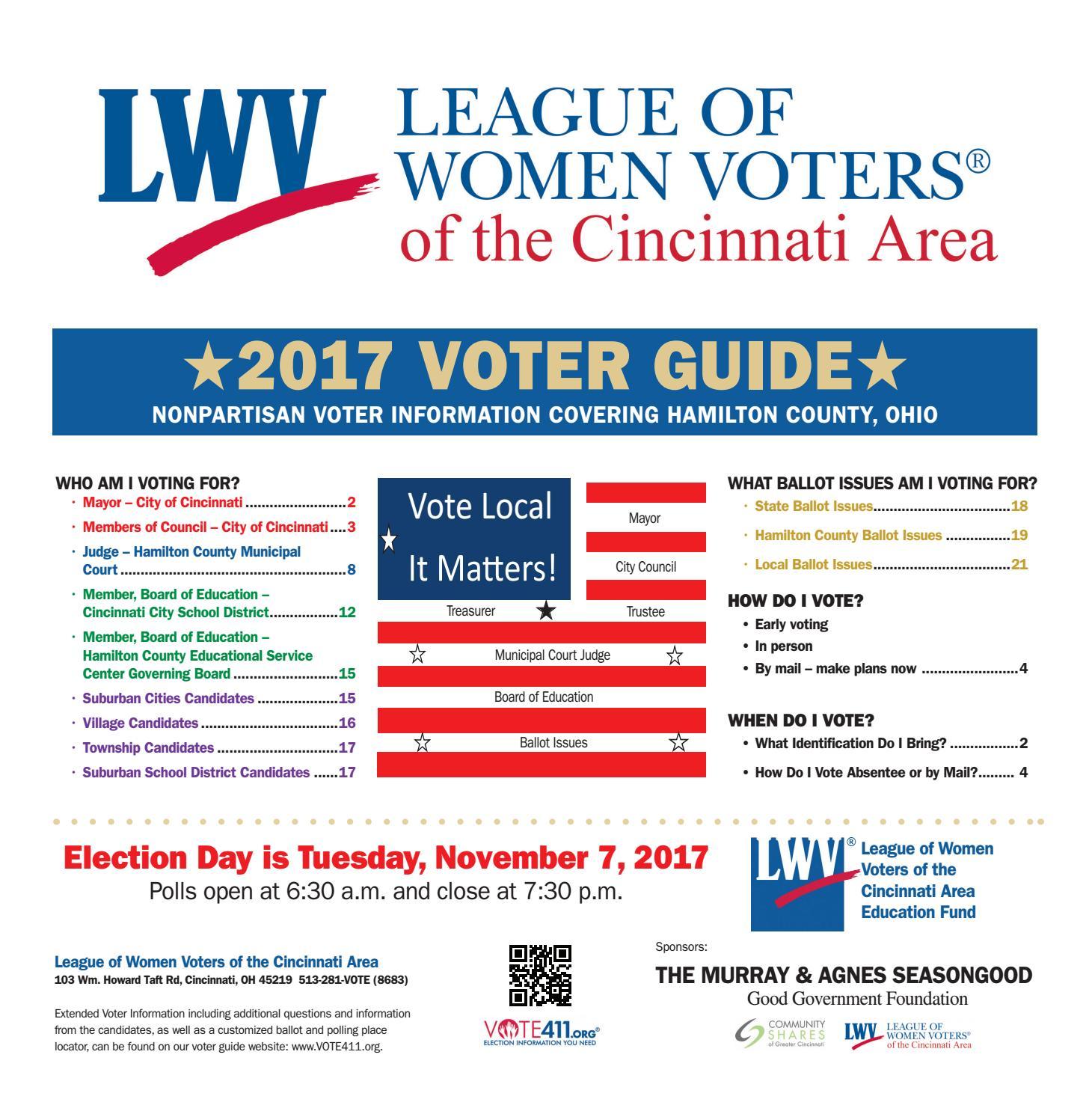 1c504bced6 League of Women Voters 2017 Voter Guide by Cincinnati CityBeat - Issuu
