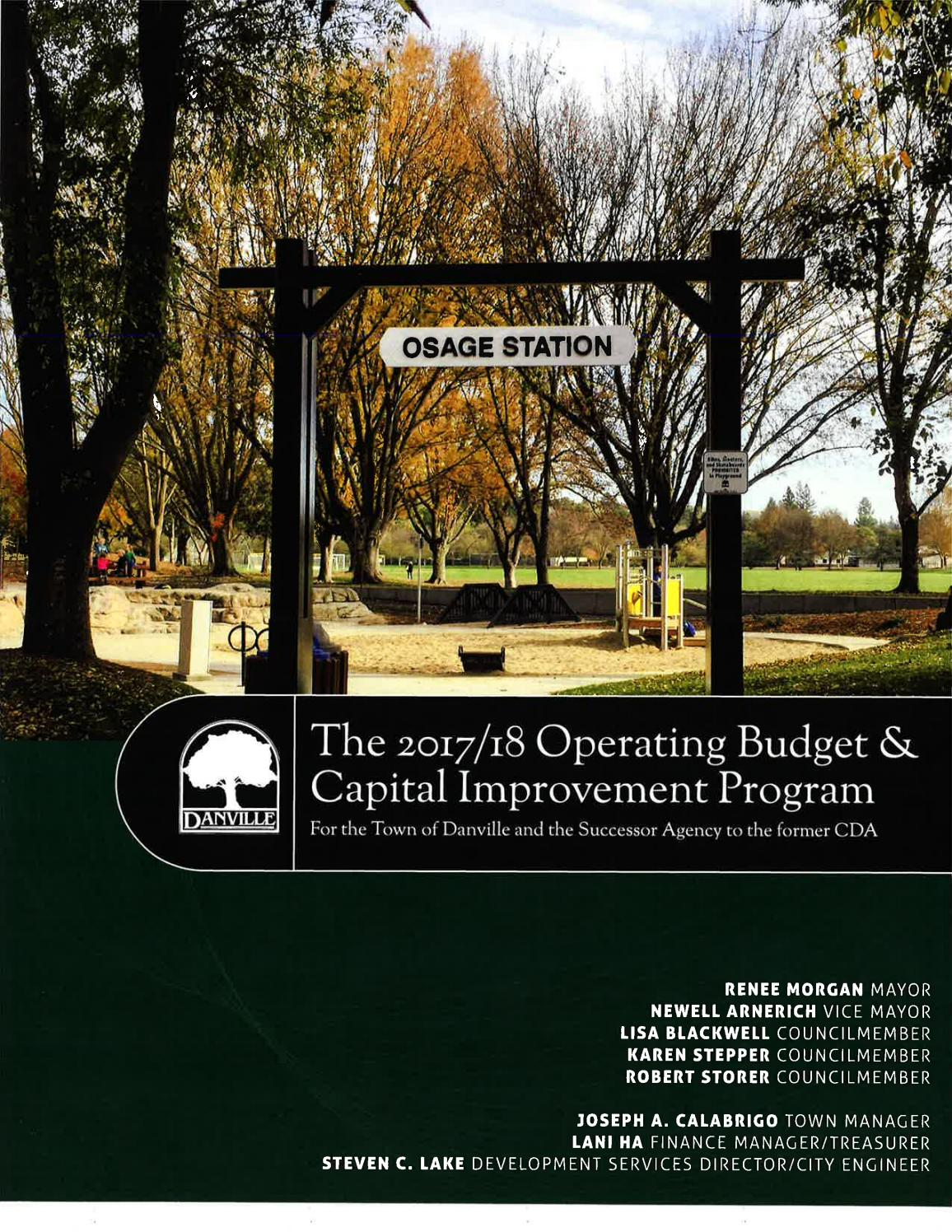 Town of Danville Budget 2017 18 by