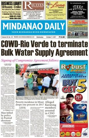 Mindanao Daily October 11 2017 By Dante Sudaria Issuu