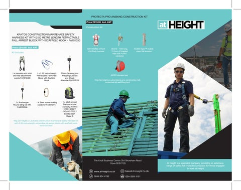 Scaffolders Shock Absorbing Height Safety Fall Arrest Protection Harness Kit