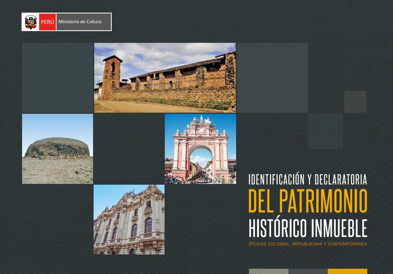 Restauración Muebles : Identificación y declaratoria del patrimonio histórico