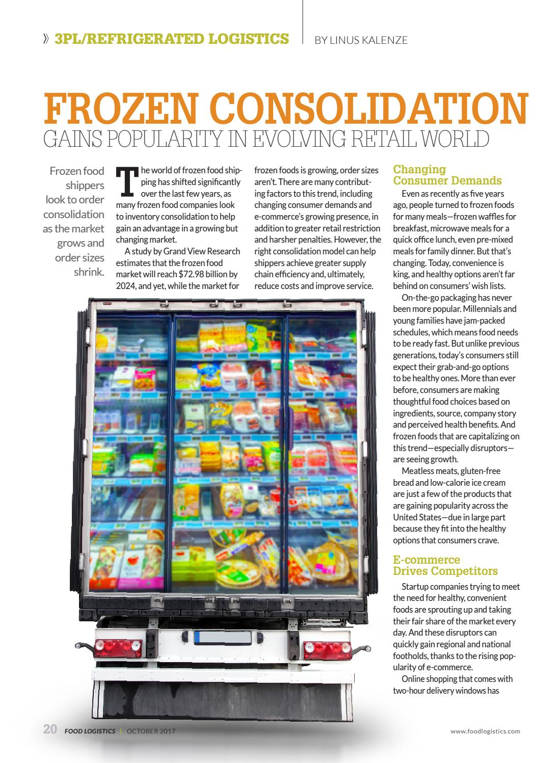 Food Logistics October2017 by Supply+Demand Chain/Food