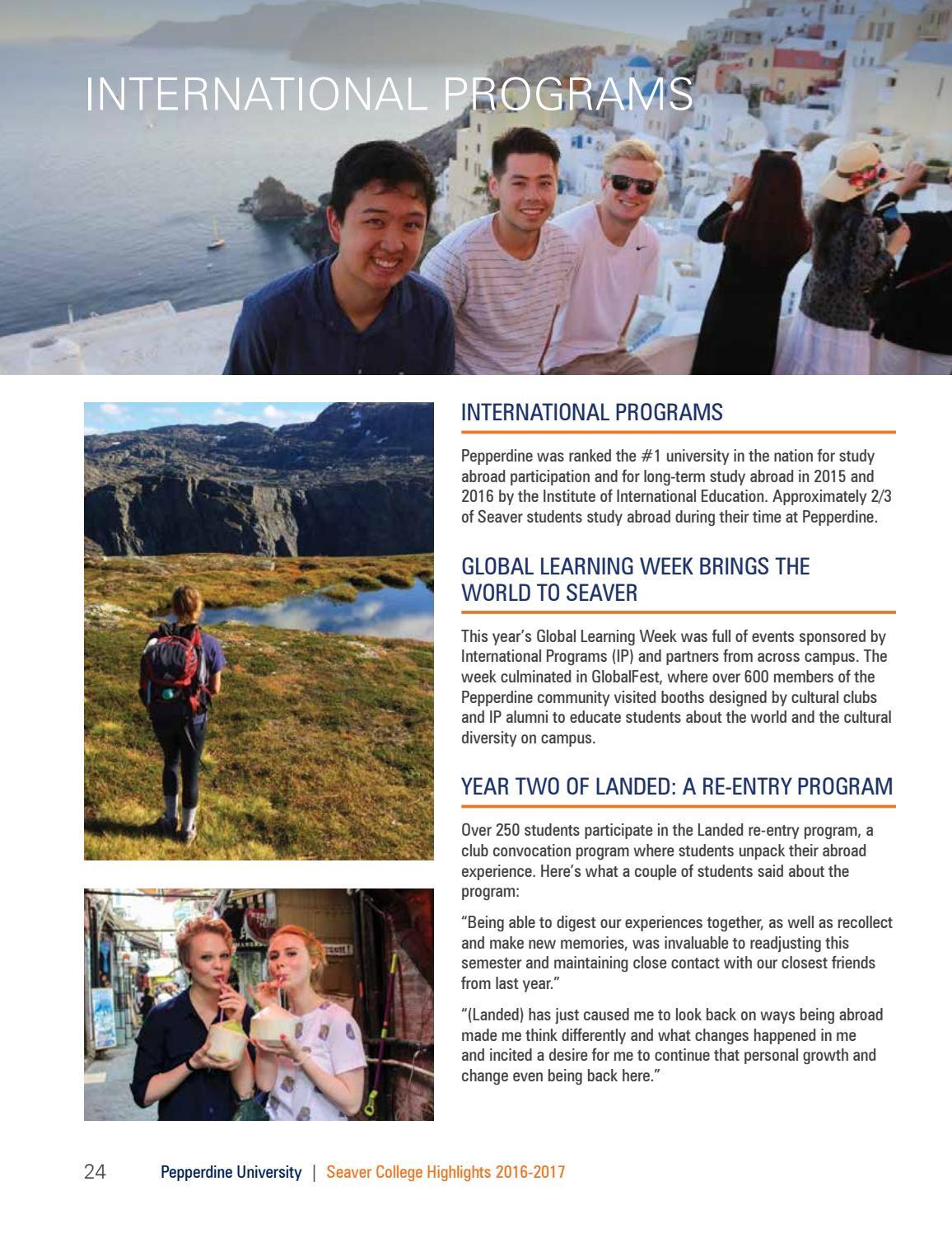 Seaver College Highlights 2016-17 by Pepperdine University