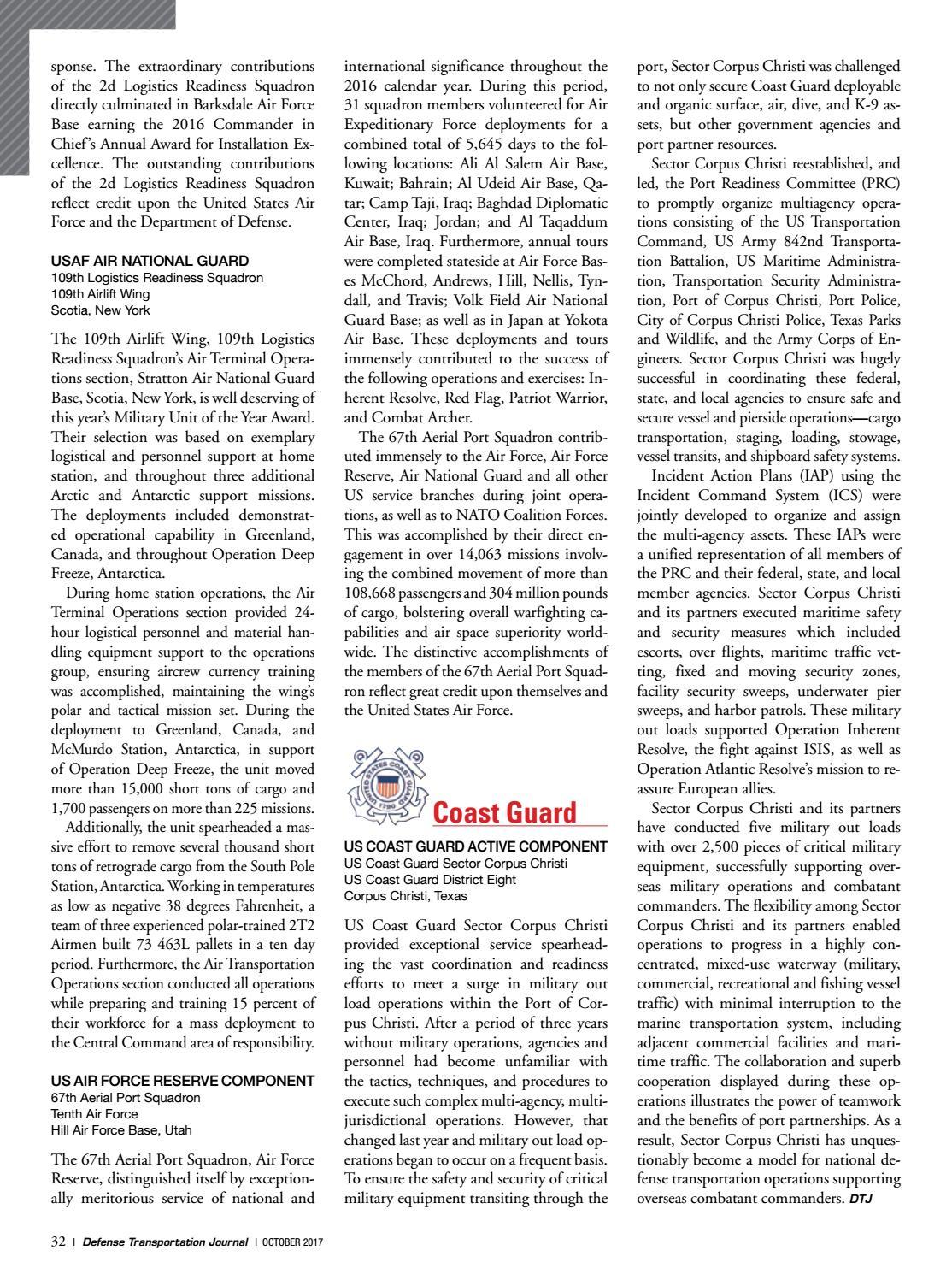 Defense Transportation Journal