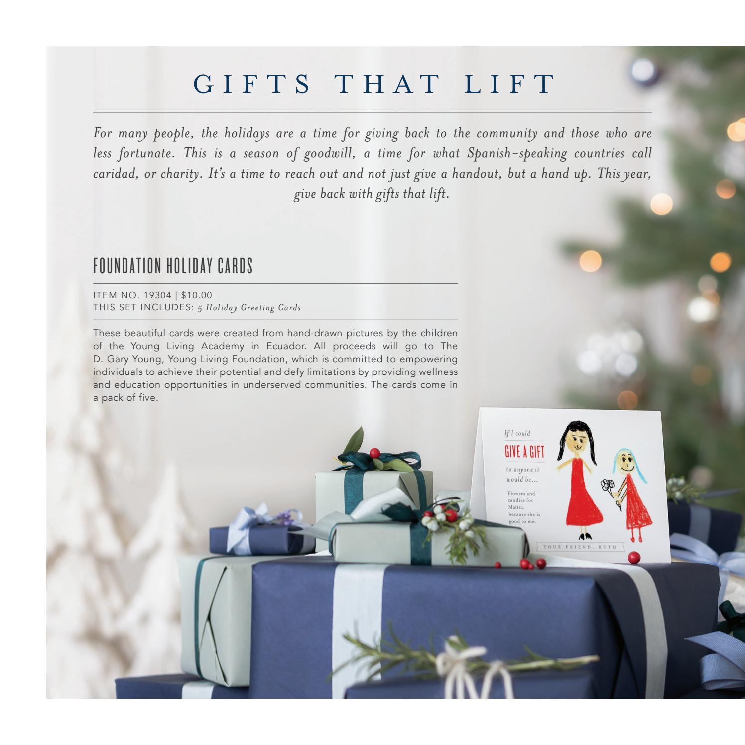 2017 holiday catalog by young living essential oils issuu - Holiday Cards For Charity