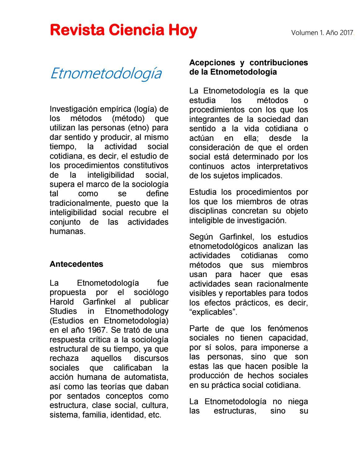 Revista Ciencia Hoy By Ruth 2017 Issuu