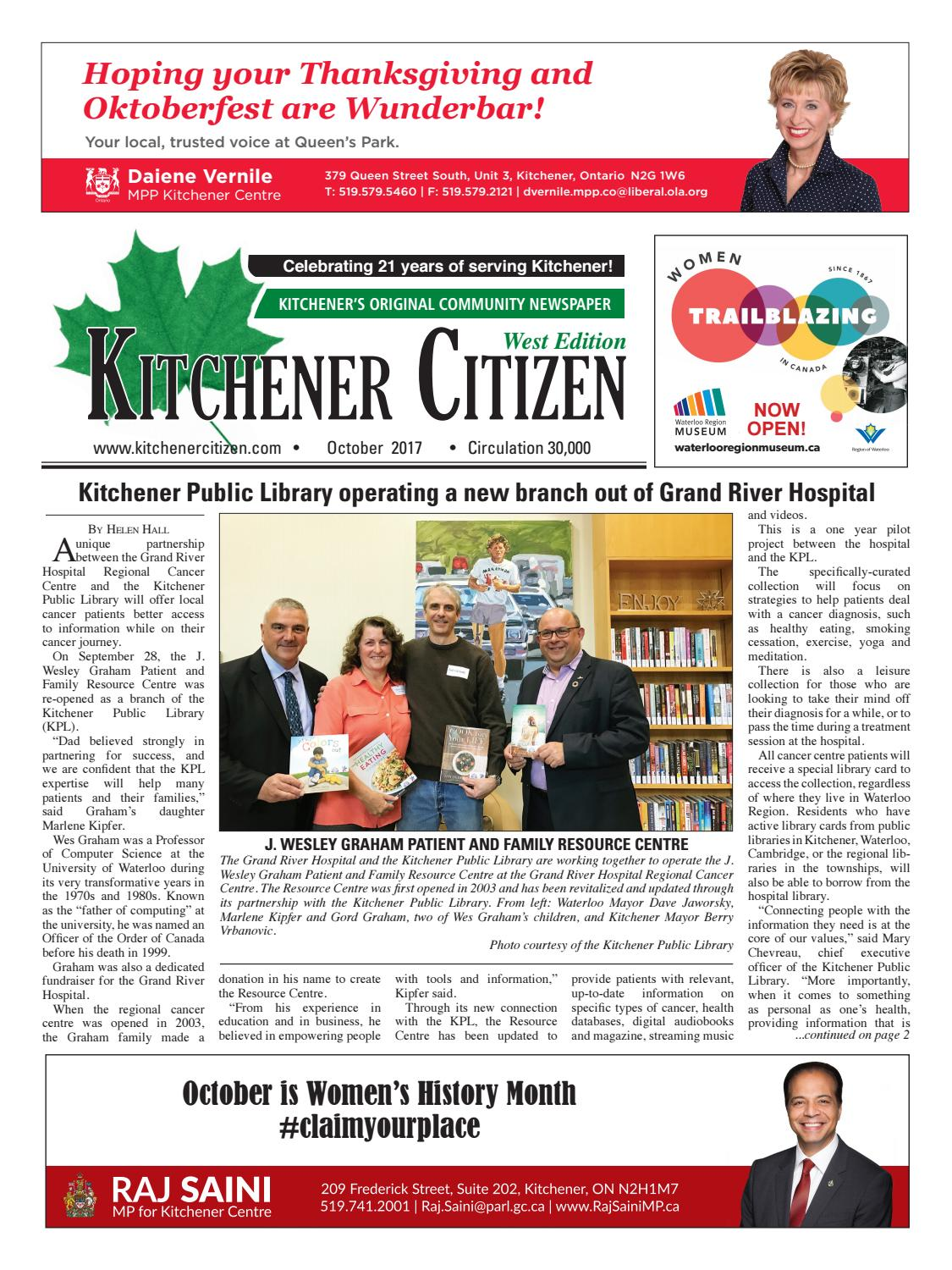 Kitchener Citizen - West Edition - October 2017 by Kitchener Citizen ...
