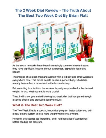 The 2 week diet pdf ebook by brian flatt real results real the 2 week diet pdf ebook by brian flatt real results real experience by sylvia connor issuu fandeluxe Images