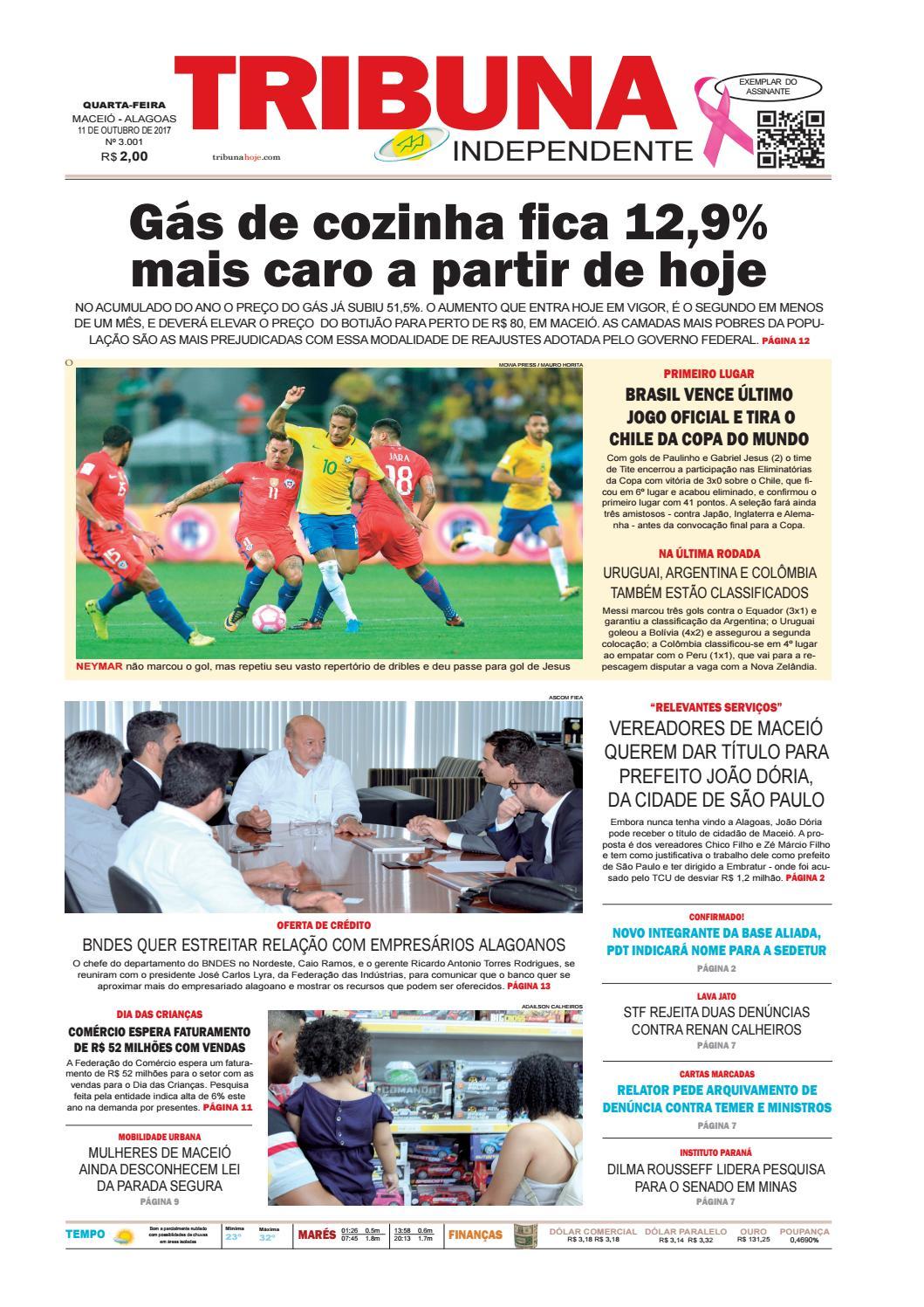 79f334f88eaf5 Edição número 3001 - 11 de outubro de 2017 by Tribuna Hoje - issuu