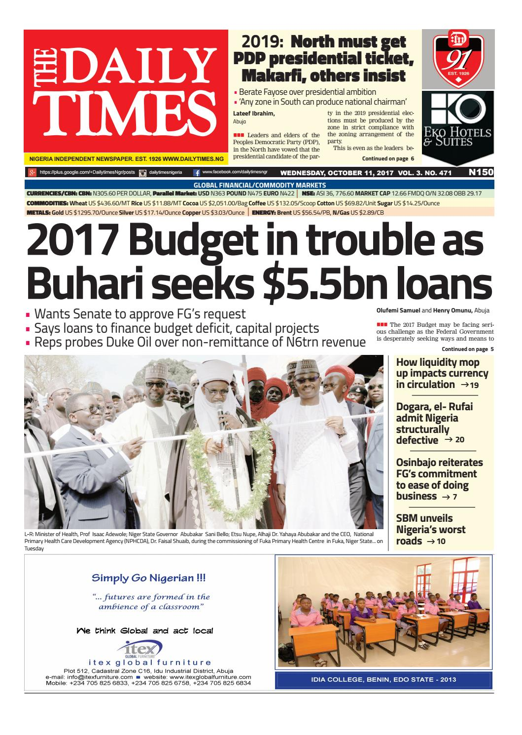 Dtn 11 10 17 by Daily Times of Nigeria - issuu