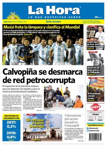 Quito 11 de octubre de 2017 by Diario La Hora Ecuador - issuu 9c27f712f81