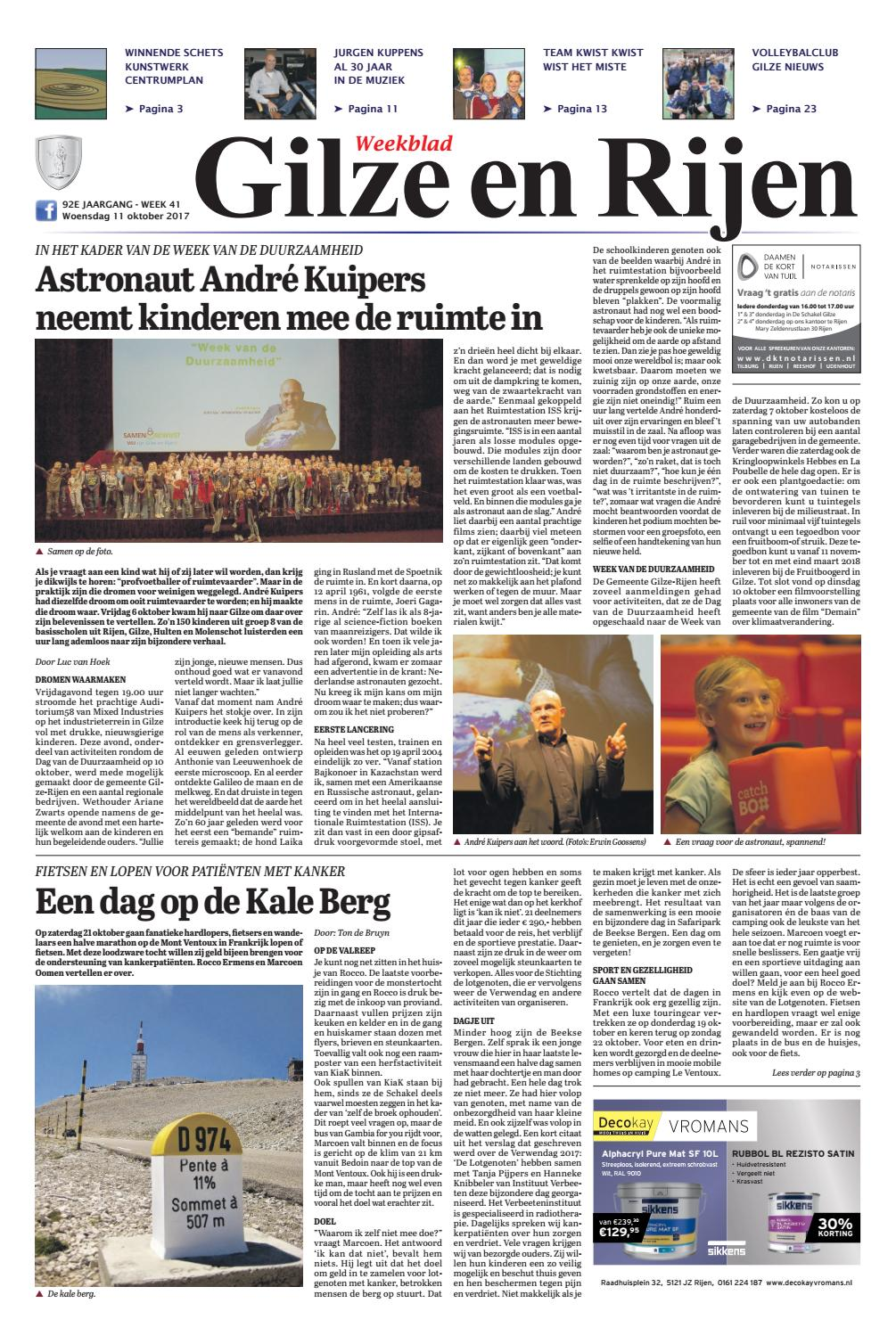 Dorst Glas En Slotenservice.Weekblad Gilze En Rijen 11 10 2017 By Uitgeverij Em De Jong Issuu