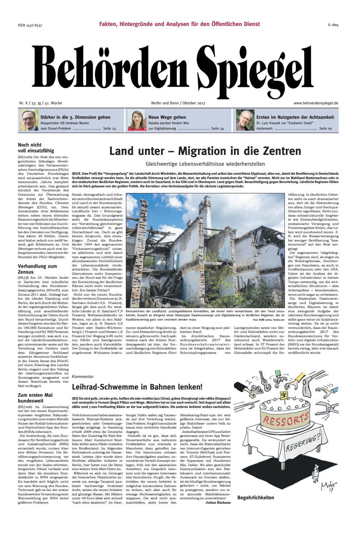 Behörden Spiegel Oktober 2017 by propress - issuu