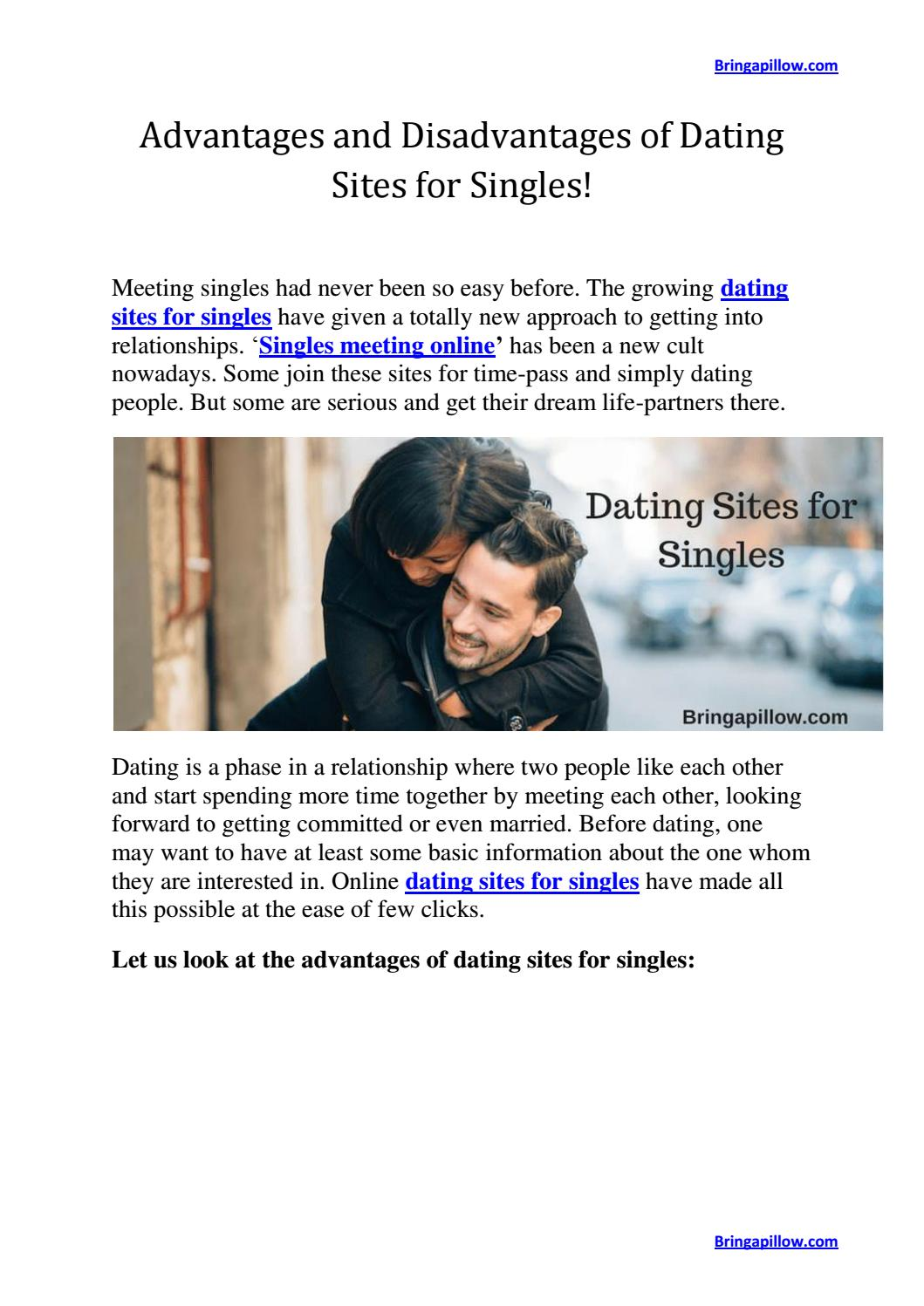 What are the advantages and disadvantages of online dating
