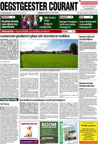 Ronde Tafel Oegstgeest.Oc Week 41 17 By Uitgeverij Verhagen Issuu