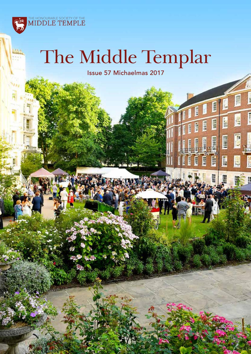 The Middle Templar 2017 by Middle Temple - issuu