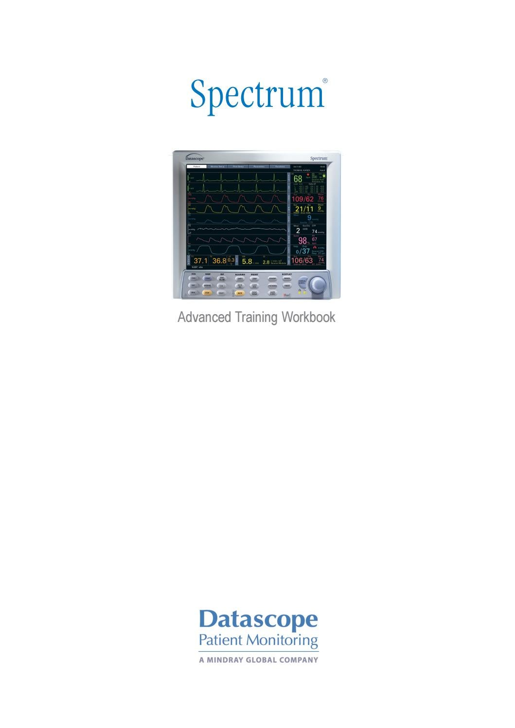 Used datascope spectrum with gas module se monitor for sale.