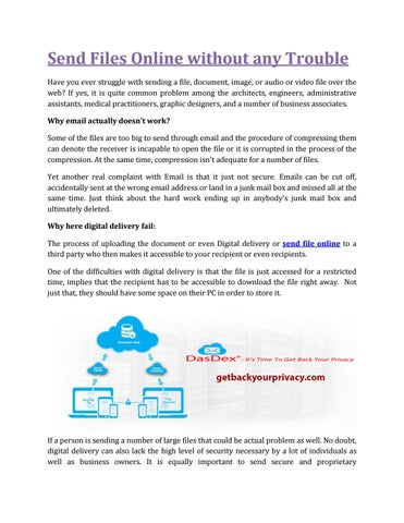 Send Files Online Without Any Trouble-Getbackyourprivacy com by