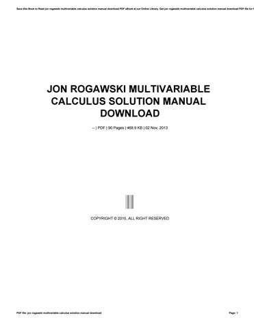 Multivariable calculus download online casino zodiac save this book to read jon rogawski multivariable calculus solution manual download pdf ebook at our fandeluxe Gallery