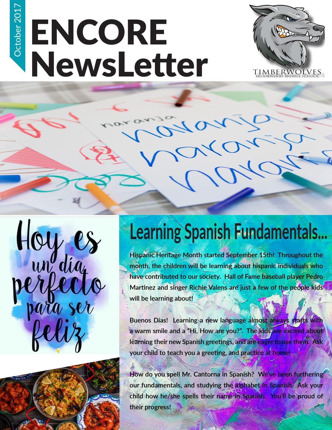October Encore Newsletter By Brookwood 167 Issuu