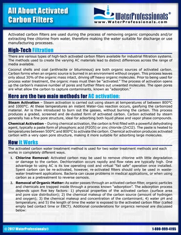 Activated Carbon Fact Sheet by WaterProfessionals - issuu