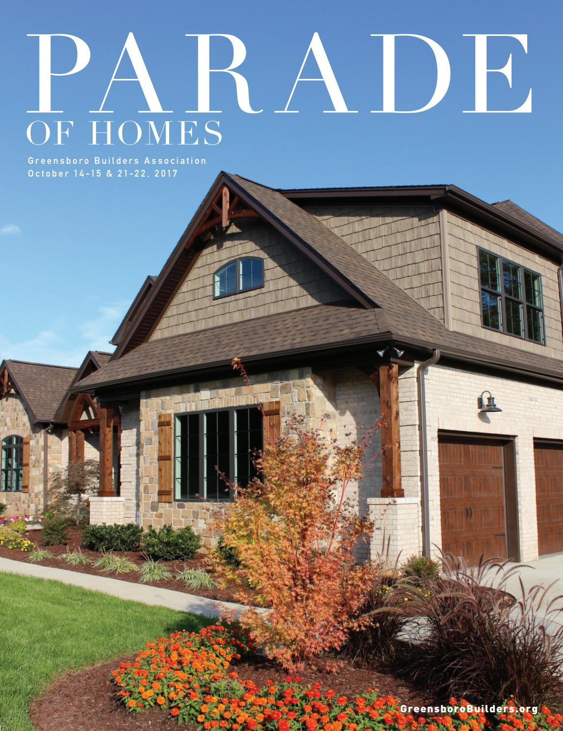 2017 fall parade of homes by greensboro builders for Home building magazines