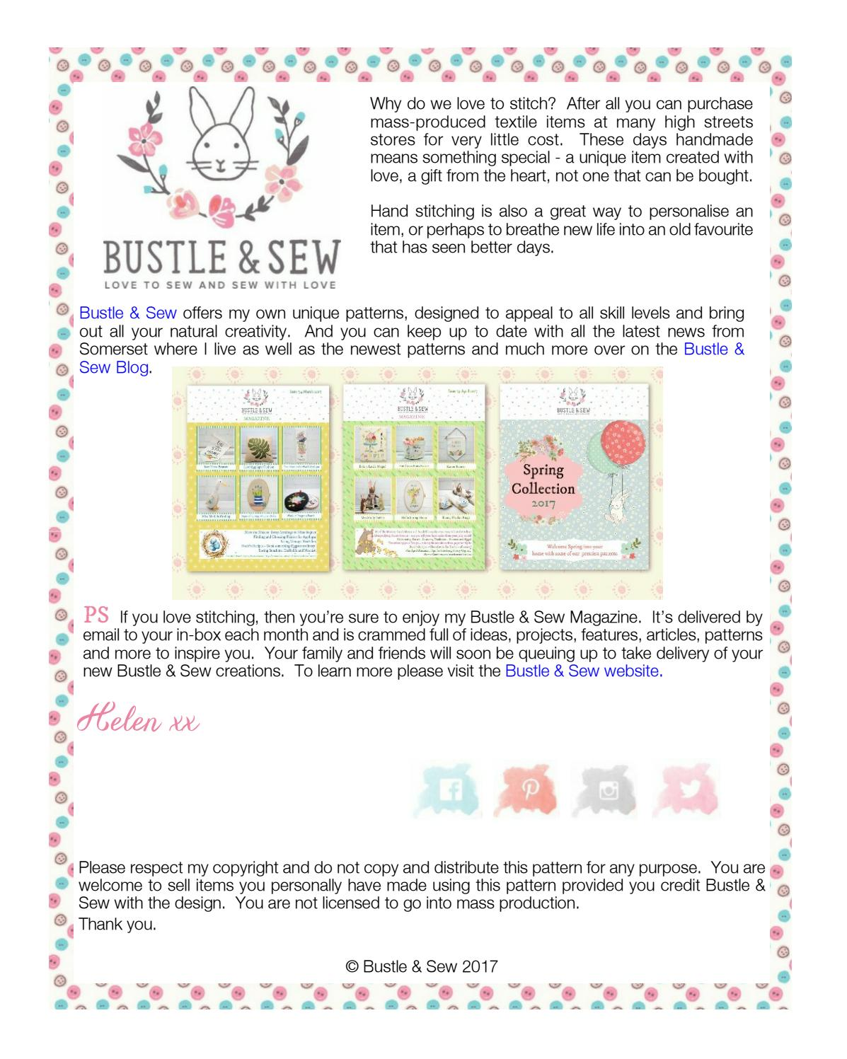 Flora the Elephant Softie Free Pattern by Bustle & Sew - issuu
